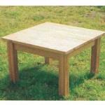 室內休閒桌椅組─樺木實木桌椅