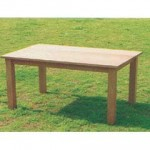 室內休閒桌椅組─柞木實木桌