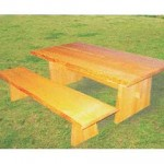 室內休閒桌椅組─水曲柳木休閒桌椅組
