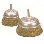 帶柄碗型鋼絲輪(鍍銅)